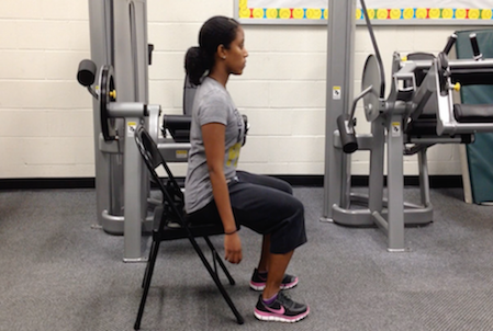 Chair Squats For Seniors