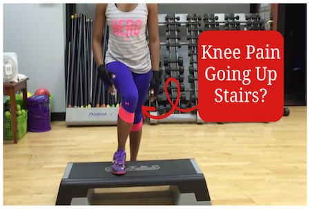 extreme knee pain walking down stairs